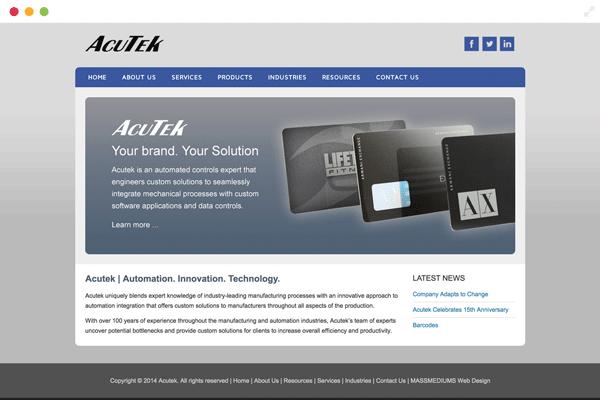 Massmediums Portfolio Acutek Automation 513 342 4577